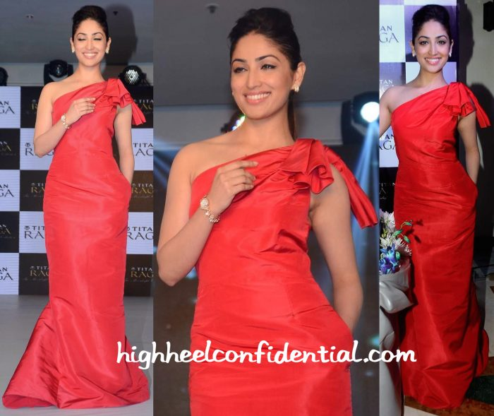 Yami Gautam In Carolina Herrera And Anmol Jewellers At Titan Raga Collection Launch-1