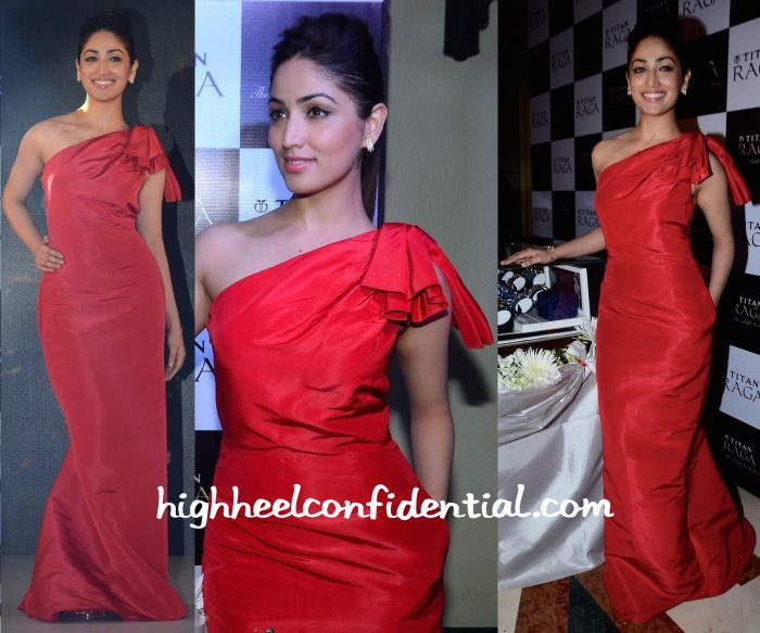 Yami Gautam In Carolina Herrera And Anmol Jewellers At Titan Raga Collection Launch-2