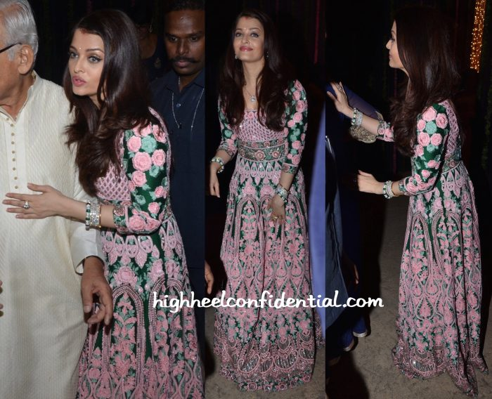 Aishwarya Rai Bachchan Wears Abu Jani Sandeep Khosla To Her Diwali Party-2