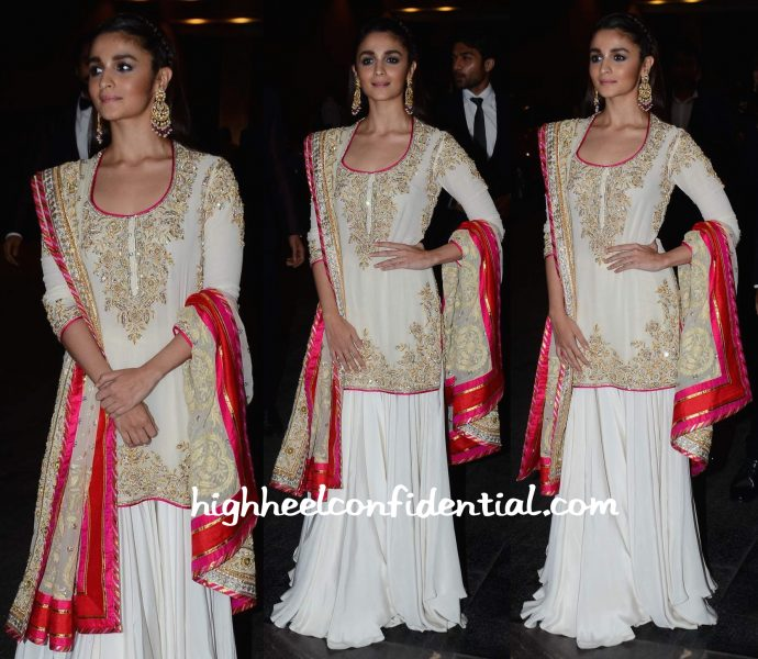 Alia Bhatt In Abu Jani Sandeep Khosla At Masaba Gupta And Madhu Mantena's Wedding Reception-2