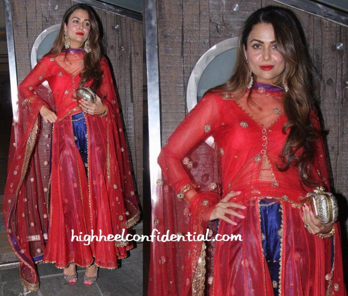 Amrita Arora In Seema Khan At Saif Ali Khan's Diwali Party-2