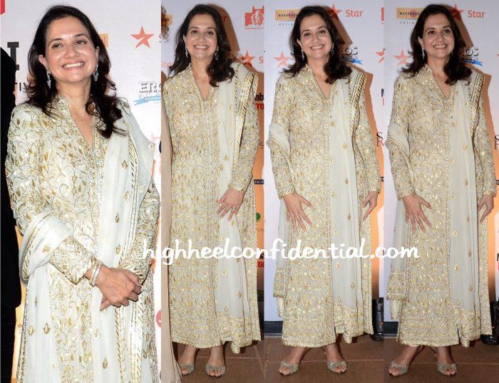 Anupama Chopra In Abu Jani Sandeep Khosla At MAMI 2015 Mumbai Film Festival Closing Ceremony