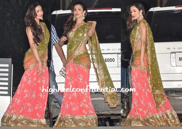 Malaika Arora Khan In Seema Khan At Diwali Bash-1