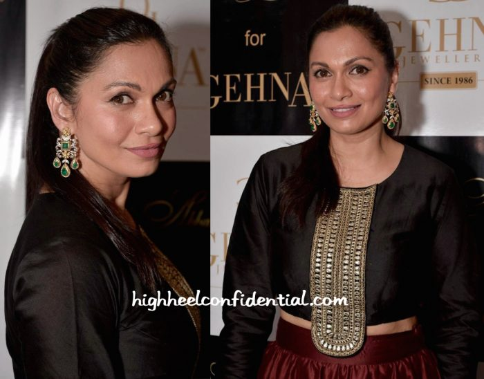 Maria Goretti In Payal Singhal At Shaheen Abbas For Gehna Jewellery Collection Unveiling-2