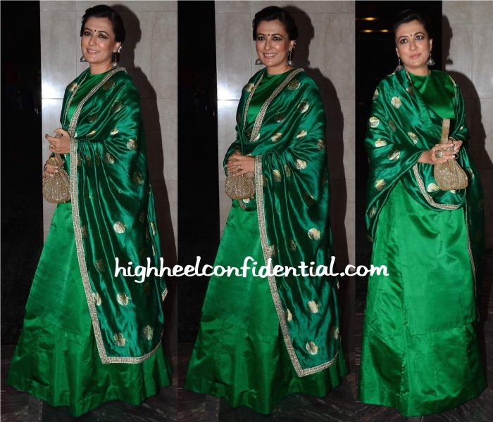 Mini Mathur In Sanjay Garg At Masaba Gupta-Madhu Mantena Wedding Reception-1