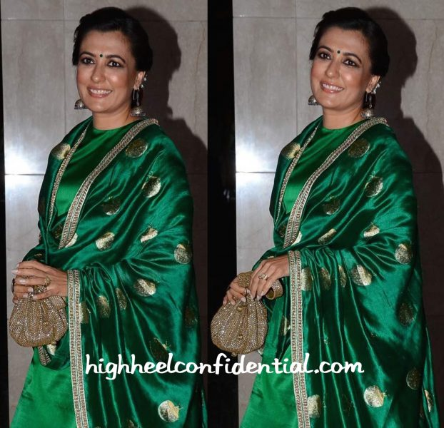 Mini Mathur In Sanjay Garg At Masaba Gupta-Madhu Mantena Wedding Reception-2