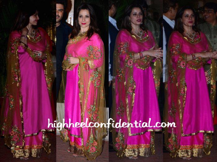 Neelam Kothari Wears Seema Khan To Ekta Kapoor Diwali Party