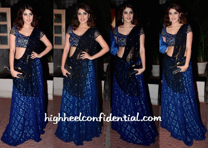 Rhea Chakraborty Wears Simply Simone To Ekta Kapoor's Diwali Party