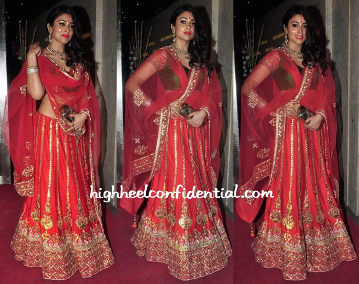 Shriya Saran At A Diwali Party
