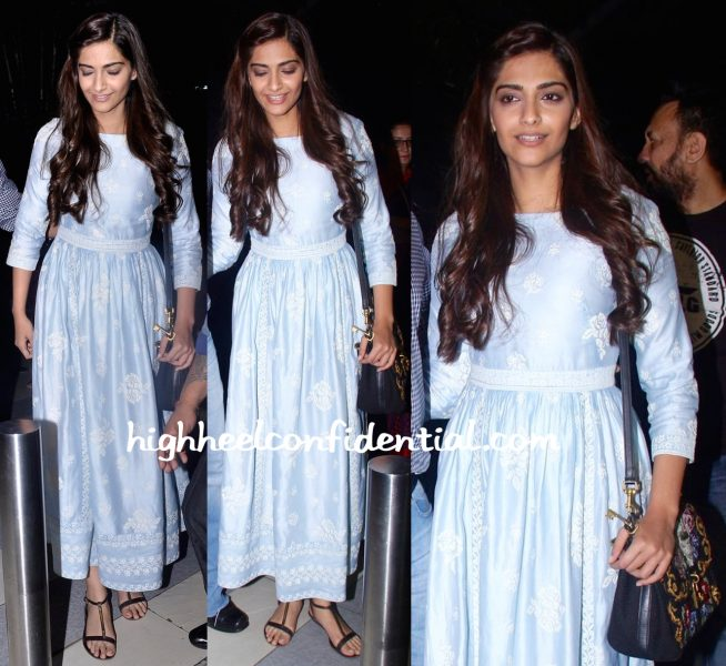 Sonam Kapoor In Payal Pratap At Mumbai Airport-Prem Ratan Dhan Payo-2