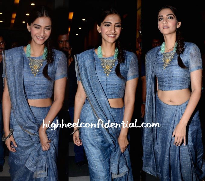 Sonam Kapoor Wears Anavila To Prem Ratan Dhan Payo Promotions-2