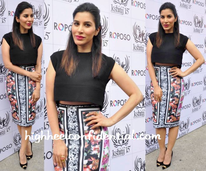 Sophie Choudry In Maje And Clover Canyon At Kshitij 2015-1