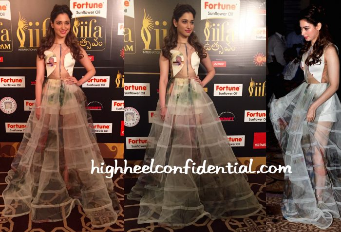 Tamannaah Bhatia In Gauri And Nainika At IIFA South 2015 Curtain-Raiser-1