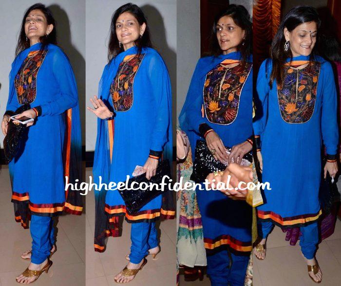 Wearing Rohit Bal, Neerja Birla Was Photographed At Nehru Centre