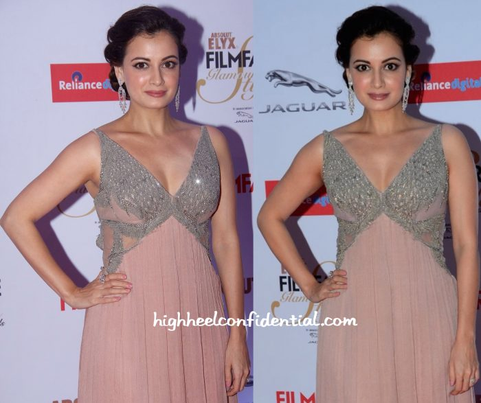 Dia Mirza In Khushali Kumar At Filmfare Glamour & Style Awards 2015-2