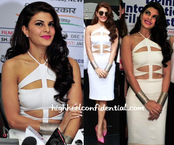 Jacqueline Fernandez At Definition Of Fear Press Meet In Cushnie Et Ochs