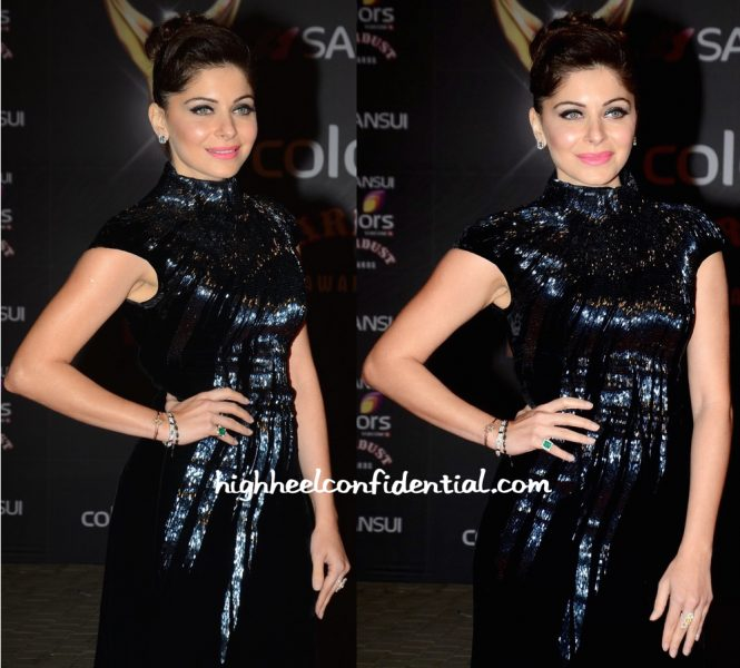 Kanika Kapoor In Alexander McQueen At Stardust Awards 2015-2