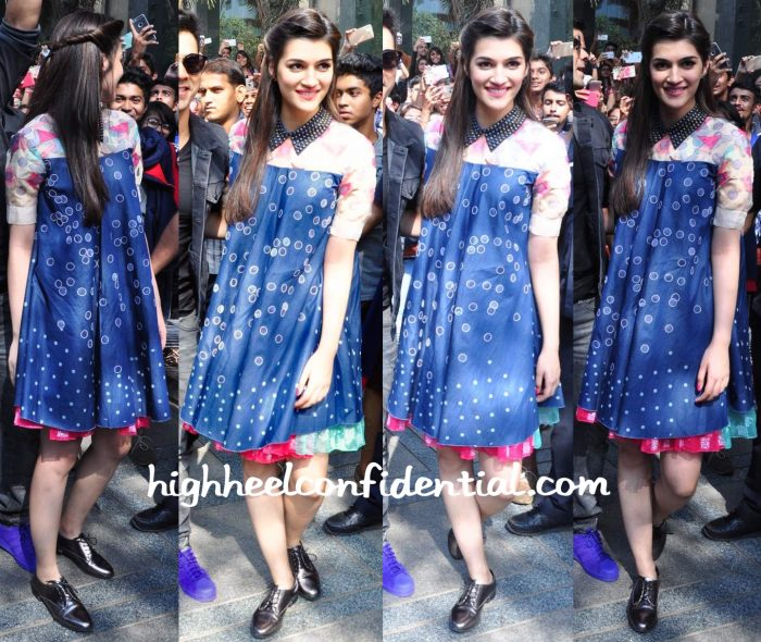 Kriti Sanon Wears Not So Serious By Pallavi Mohan To Dilwale Promotions-1