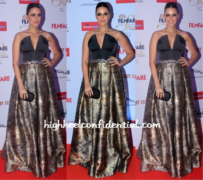 Neha Dhupia In John Paul Ataker At Filmfare Glamour & Style Awards 2015-1