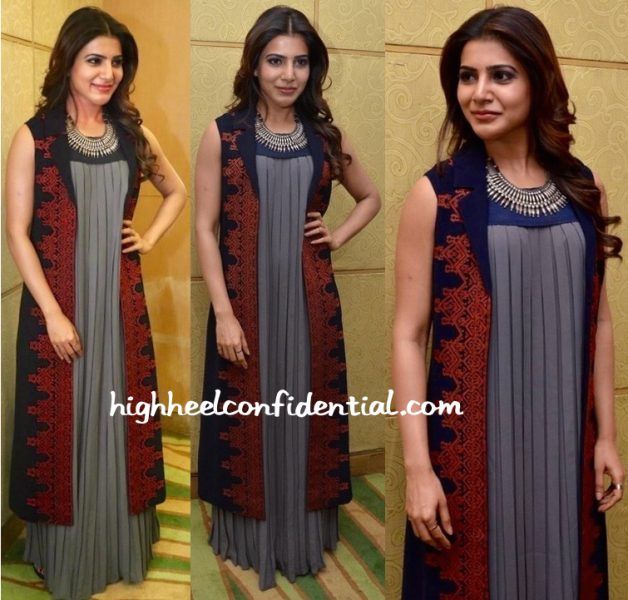 Samantha Ruth Prabhu In Shivangi Sahni And Amrapali At 'Nava Manmadhudu' Press Meet-1