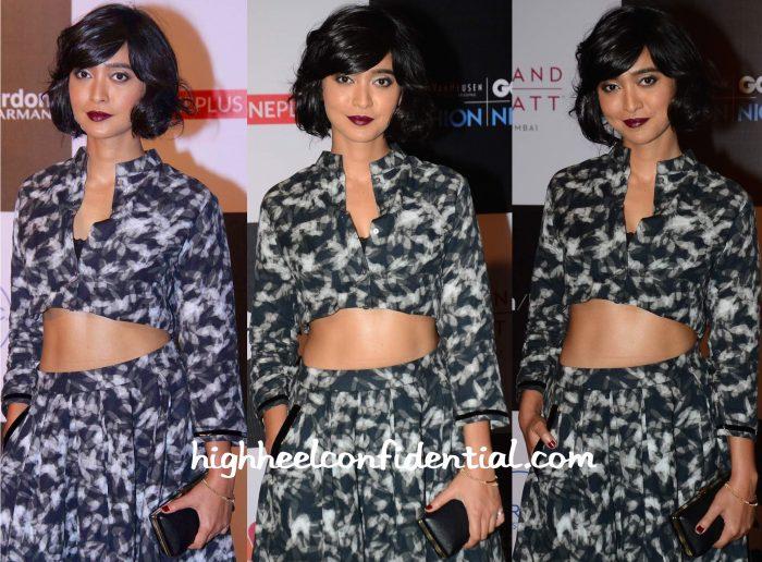 Sayani Gupta In Antar-Agni At GQ Fashion Nights 2015-2