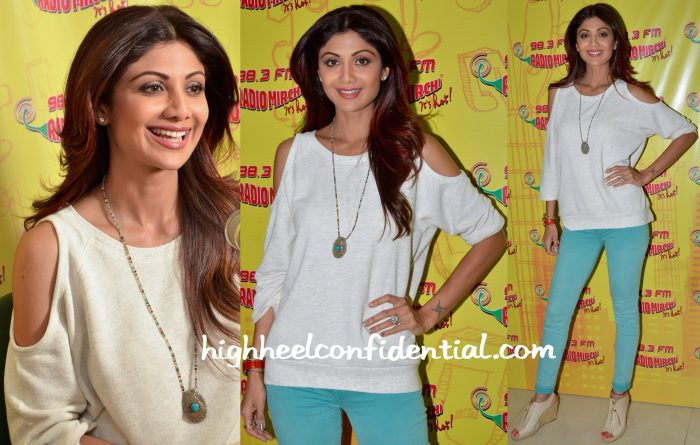 Shilpa Shetty At Radio Mirchi Studios For 'Wedding Da Season' Promotions-2