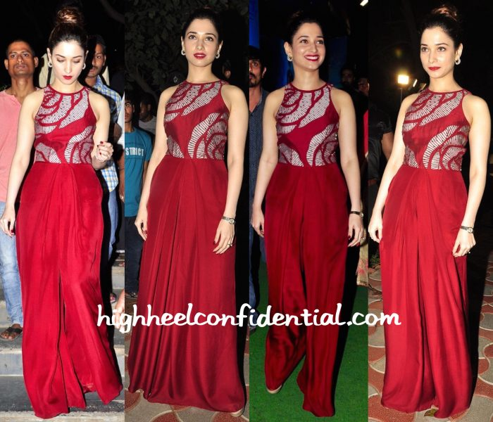 Tamannaah Bhatia In Nachiket Barve At Bengal Tiger Audio Success Meet-1