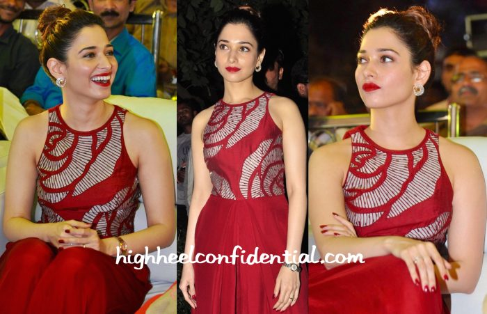 Tamannaah Bhatia In Nachiket Barve At Bengal Tiger Audio Success Meet-2