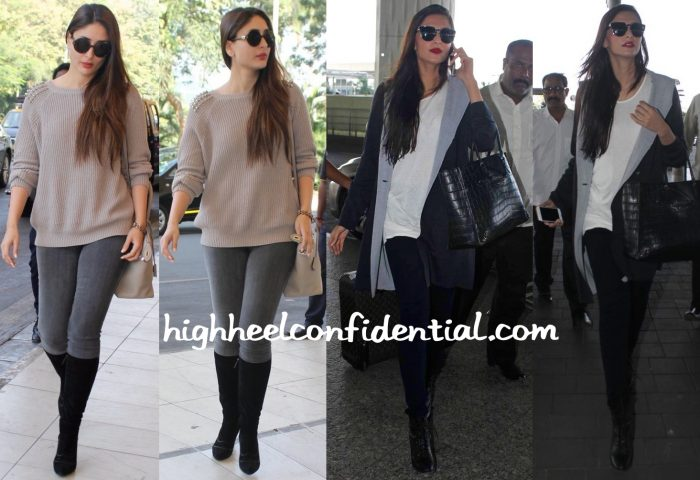 Travel(v)ogue- Kareena Kapoor And Sonam Kapoor Photographed At The Airport-1