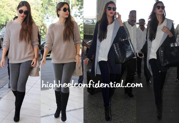 Travel(v)ogue- Kareena Kapoor And Sonam Kapoor Photographed At The Airport-1