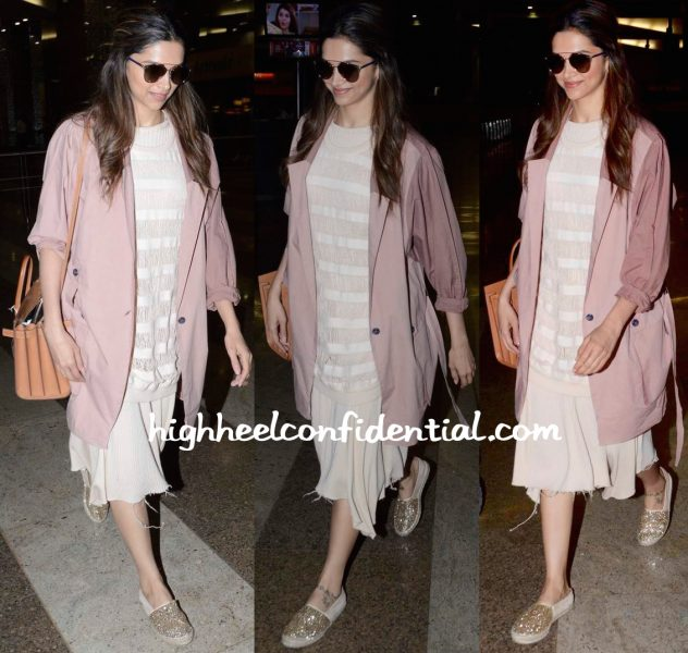 deepika padukone spotted at the airport 2015-2