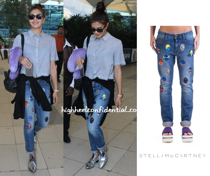 jacqueline-fernandez-airport-stella-mccartney-comic-superhero