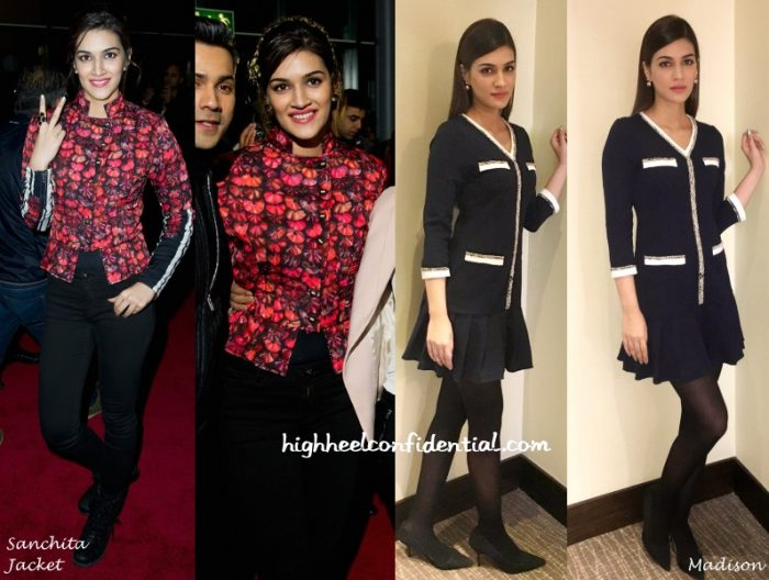 kriti-sanon-sanchita-madison-dilwale-london-promotions