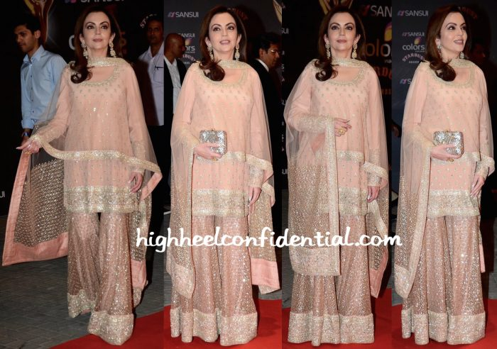 nita ambani sony guild awards 2015 sabyasachi