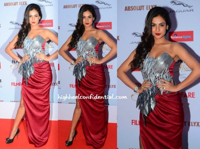 sonal-chauhan-amit-aggarwal-filmfare-glamour-style-awards-2015