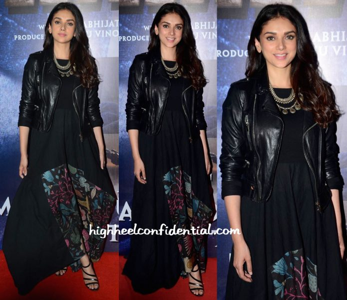 Aditi Rao Hydari In Divya Sheth At Wazir Screening-1