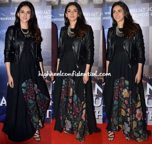 Aditi Rao Hydari In Divya Sheth At Wazir Screening-2