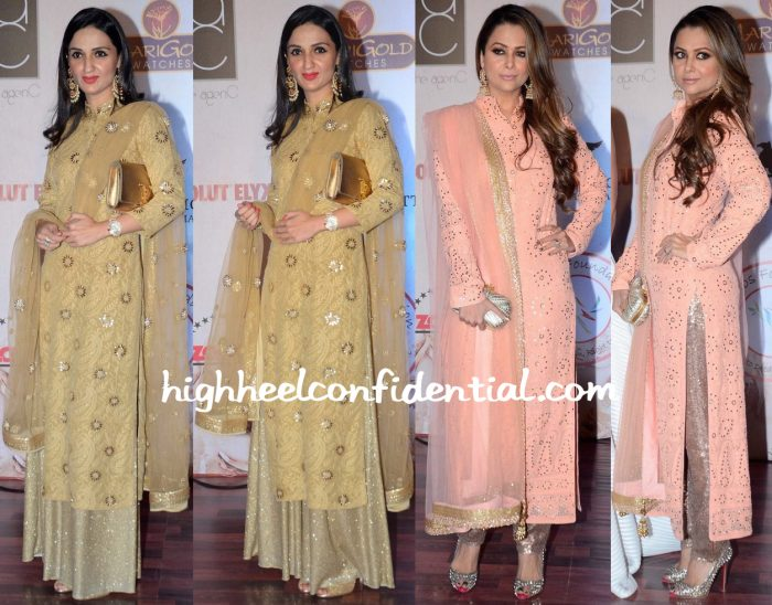 Anu Dewan And Amrita Arora At Vikram Phadnis 25th Anniversary Show