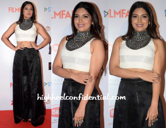 Bhumi Pednekar In Roshni Chopra Design And Am-Pm At Filmfare Pre-Awards Party 2016-1