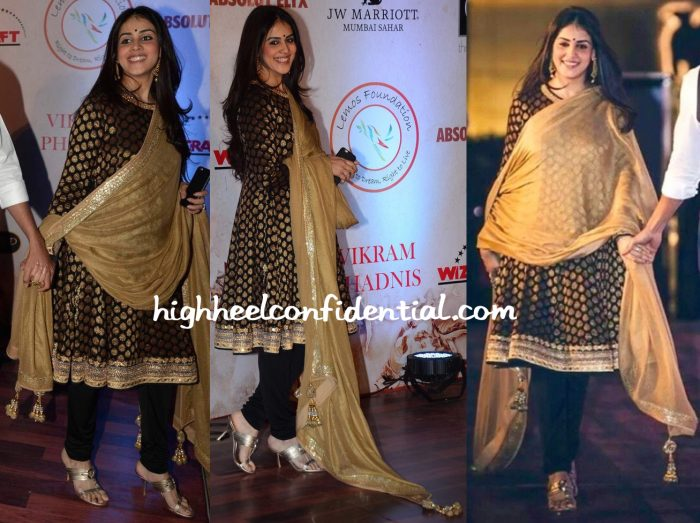 Genelia D'Souza In Vikram Phadnis At The Designer's 25th Anniversary Show-1