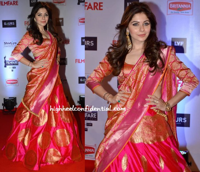 Kanika Kapoor In Manish Malhotra At Filmfare Awards 2016-2