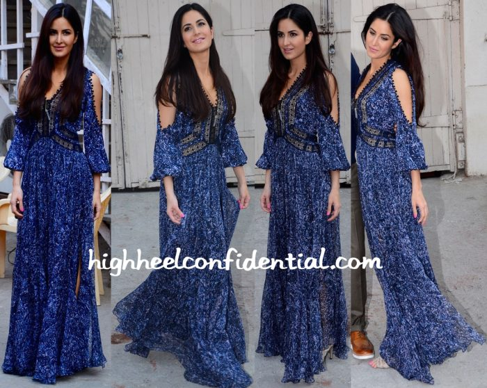 Katrina Kaif In Rebecca Taylor At Fitoor Promotions-1