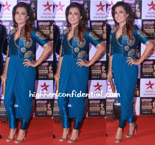 Mini Mathur In Tisha Saksena At Star Screen Awards 2016