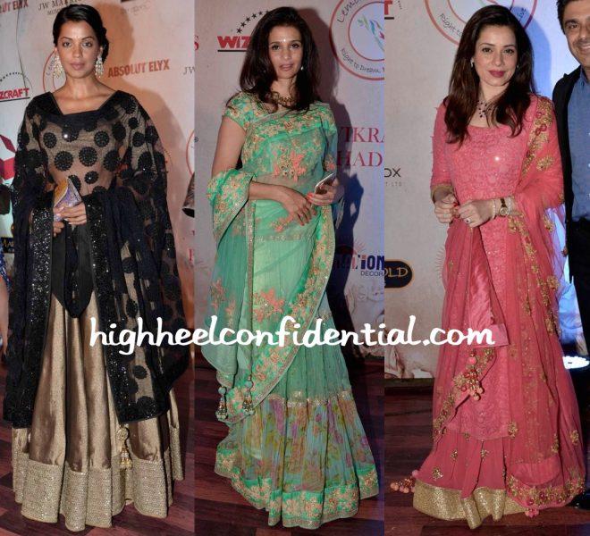 Mugdha Godse, Rhea Pillai And Neelam Kothari At Vikram Phadnis 25th Anniversary Show-1