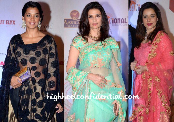 Mugdha Godse, Rhea Pillai And Neelam Kothari At Vikram Phadnis 25th Anniversary Show-2