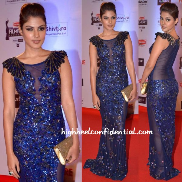 Rhea Chakraborty In Simply Simone At Filmfare Awards 2016