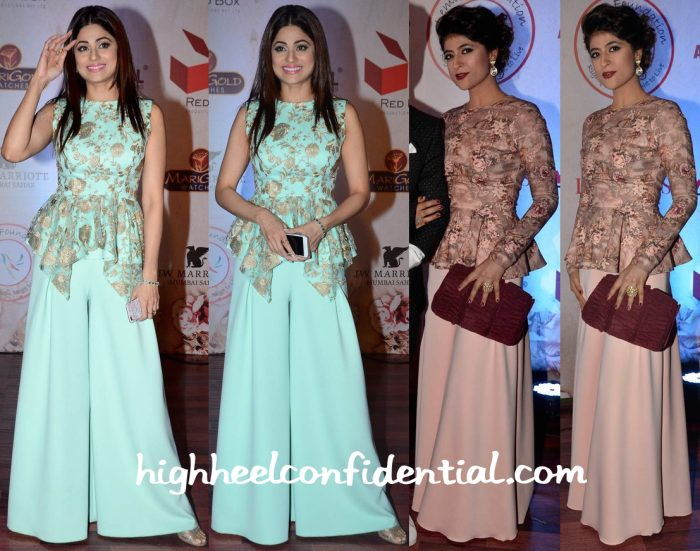 Shamita Shetty And Tahira Kashyap In Vikram Phadnis At The Designer's 25th Anniversary Show-1