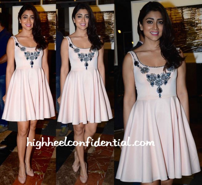 Shriya Saran In Rajat Tangri At An Art Event In Mumbai
