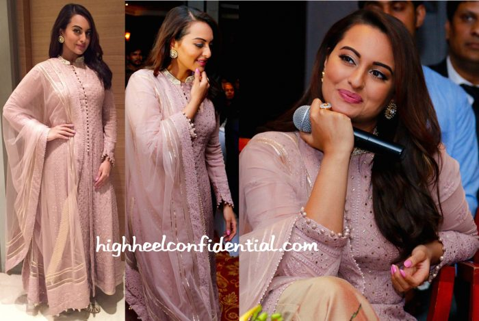 Sonakshi Sinha In Rimple & Harpreet Narula At Shatrughan Sinha's 'Anything But Khamosh' Book Launch-2