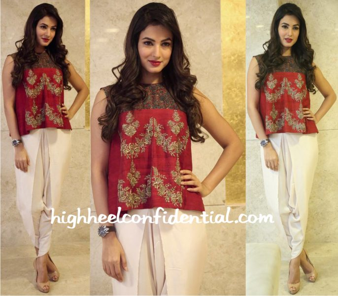 Sonal Chauhan In Jayanti Reddy At 'Dictator' Press Meet-2